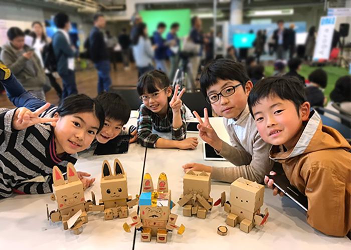 【プログラミング教育】ダンボールプログラミングロボットembot体験ワークショップ イメージ4